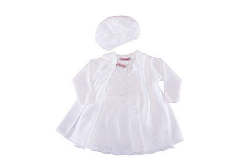 Cocolina Taufkleid Strickkleid Set Mantel Mütze Kleid (86 (1A))