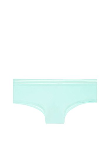 Victoria's Secret Pink Sheer Strip Waist Cheekster Panty, UFO Glo - Small