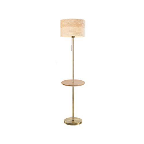 Staande lamp, stof, LED, lampenkap, smeedijzer, staande lamp, met tafellamp, rond, kroonluchter, hoge hoogte, voor woonkamer, kantoor, slaapkamer R/19/12/13