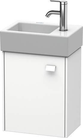 Duravit Brioso badmeubel wandarm 36,4,0 x 23,9 cm, 1 deur, linksdraaiend, voor Vero Air wastafel 072438, Kleur (voorzijde/karkas): Betongrijs Matte decor, chromen handvat - BR4049L1007