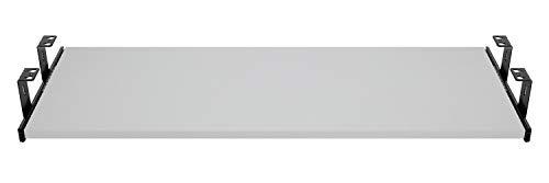FIX&EASY Guide scorrevoli con ripiano 800X400mm texture dekoro grigio per porta-tastiera cassetto, staffa per binario scorrevole nero 400mm, estraibili per tastiera mouse e laptop