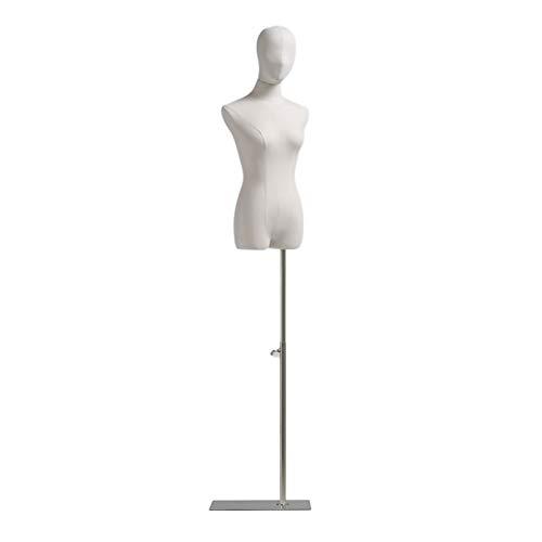 ZHANWEI Maniquí De Costura, Ajuste De Altura Ropa Mujer Soporte Exhibición Moda, Vestido Boda Tocado Brazo Madera Maciza, Diseño Costura Base Cuadrada (Color : A, Size : Medium)