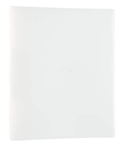 Idena 10427 - Ringbuch im Format DIN A4, mit 2-Ring-Mechanik, 20 mm Rückenbreite, weiß, 1 Stück