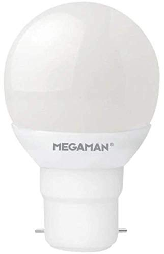 Megaman Richcolour R9 Regulable 5.5W B22 2800K Lámpara LED Opal Classic Golf Ball, Blanco Cálido