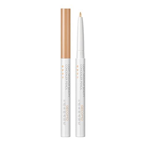 AUTOECHO Concealer Pen - Lápiz corrector impermeable para cejas, color crema de base de maquillaje de larga duración para aplicar imperfecciones de la piel y alisar e hidratante, 3 colores
