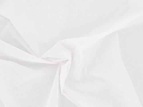 Dalston Mill Fabrics Tela de polialgodón, color blanco, 1 m, algodón
