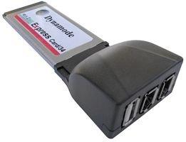 Best Price Square Adaptor,EXPRESSCARD 34,USB+FIREWIRE PCMX1U2FW by DYNAMODE