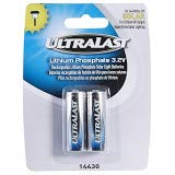 Ultralast replacement batterys for outdoor solar lighting, 2 Pack