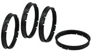 56.1mm 73.1mm Aluminium Hub Centric Centering Rings Wheel Hub Ring Set Inside Outside Diameter Wheels Caps Heat Resistant Strong Performance Never Break Never Melt INCLUDES 4 PIECES Universal Fit