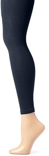 EMEM Apparel Girls' Kids Childerns Solid Colored Dance Ballet Custume Opaque Footless Tights Leggings Stocking Navy 7-10
