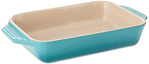 Le Creuset Stoneware Rectangular Dish, 1.8 qt. (10.5' x 7'), Caribbean
