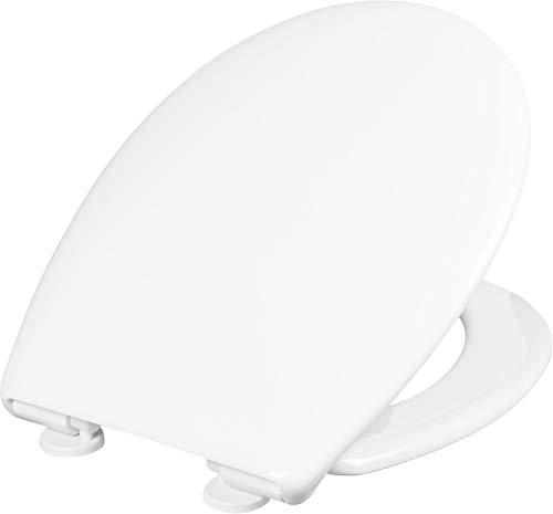 """Cornat WC-Sitz """"Como"""" - Klassisch weißer Look - Pflegeleichter Thermoplast - Quick up & Clean Funktion - Absenkautomatik / Toilettensitz / Klodeckel / KSCOSC00"""