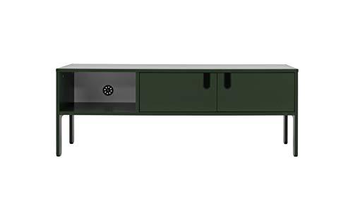 Tenzo 8570-031 UNO Designer TV-Bank, 50 x 137 x 40 cm (HxBxT), Forest Grün, MDF + Spanplatten, matt lackiert. Soft-close Funktion,