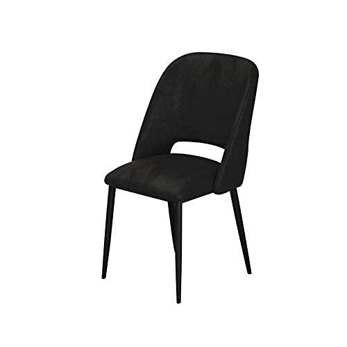 XCZZYC Sedie da Pranzo Sedia da Pranzo in Velluto Morbido, Poltrona per Ufficio Lounge Sala da Pranzo Cucina Camera da Letto Gambe in Metallo Sedie da Soggiorno Cucina (Colore: Rosa, Dimensioni: ga