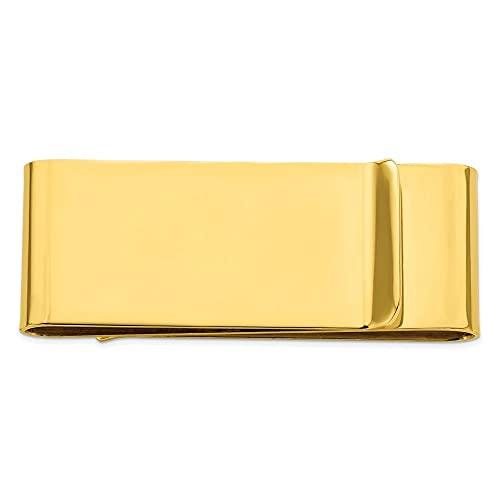 Diamond2Deal Kelly Waters - Pinza para Dinero (Acero Inoxidable, Doble Pliegue, 22 mm de Longitud, 58 mm)