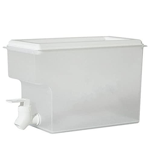 Montloxs Recipiente de Agua para hervidor de Agua fría Dispensador de Bebidas con Grifo Refrigerador Hervidor de Agua fría para el hogar Dispensador de Bebidas frías de Gran Capacidad Recipiente