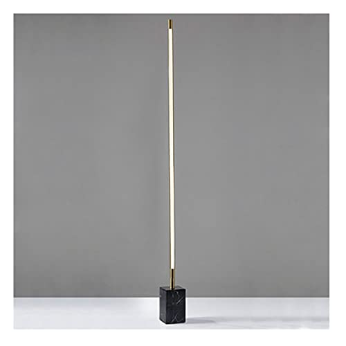 zdz Metal DIRIGIÓ Lámpara de pie, Dorado Vertical Smart 25W Control Remoto A Tiempo de atenuación de la atmósfera de la luz del Piso, para el Dormitorio, la Sala de Estar (Color : White+Black)