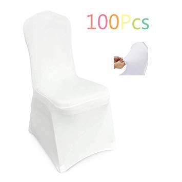 femor Housse de Chaise 100 Pièces, Couverture Blanc Universelle Extensible, très Facile...
