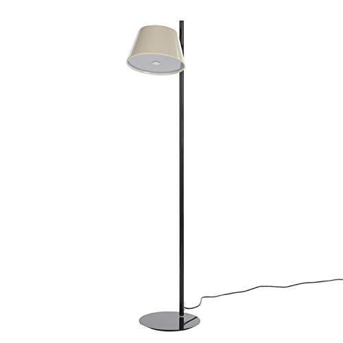 Lámpara de pie 1 x 46W E14 con Estructura de Metal Lacado y Pantalla de Aluminio, Modelo Tam Tam satel Mini P, Color Blanco Roto, 24 x 24 x 116 centímetros (Referencia: A633-020 35)