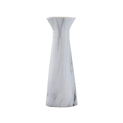 I3C Jarrón de cerámica blanca, decoración para el hogar, florero, florero de arreglo de flores Ikebana, florero decorativo, contenedor hidropónico (3)