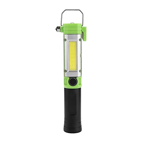 SONG Arbeitslampe, tragbare Outdoor-Arbeitslampe, Multifunktions-Taschenlampe, LED-Notfall, Licht mit Magnet für Camping (Color : Green)