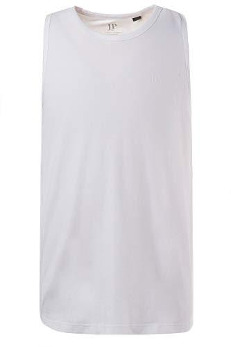 JP 1880 Herren große Größen bis 8 XL, Basic Unterhemd, Tanktop, Ärmellos, Rundhals, weiß XL 705145 20-XL