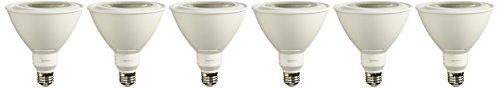 AmazonBasics 90 Watt Equivalent, Daylight, Dimmable, PAR38 LED Light Bulb | 6-Pack