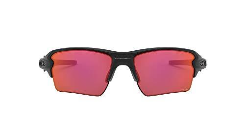Oakley Men's OO9188 Flak 2.0 XL Rectangular Sunglasses, Matte Black/Prizm Trail Torch, 59 mm