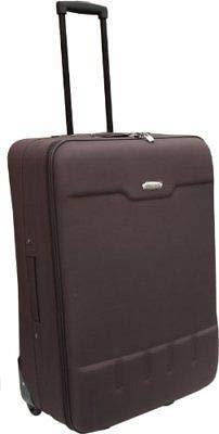 Generic ort Maletas medianas Cabin uggage Airpo Travel Brown Equipaje de viaje equipaje de tela Trol Trolley de tela de braga Tr Aeropuerto mediano