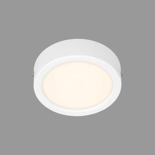 Briloner Leuchten - LED Aufbauleuchte, Deckenlampe, Deckenleuchte 7 Watt, 700 Lumen, 4.000 Kelvin, Rund, Weiß, 120x32mm (DxH)
