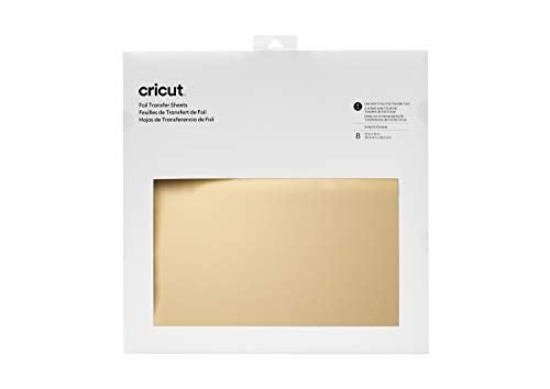 "Cricut, Gold Foil Transfer Sheets, (8 ct), 30.5 cm x 30.5 cm (12"" x 12"")"