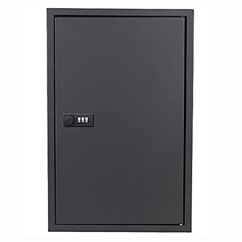 PWE-Armario De Seguridad para 48 Llaves,Caja De Cerradura De Seguridad,con Bloqueo De Código,Negro