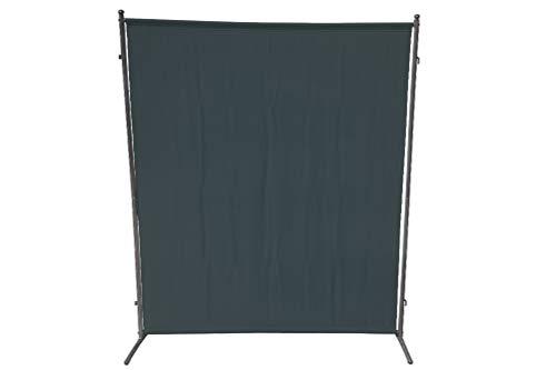 gartenmoebel-einkauf Sichtschutz Trennwand 150x190cm, Metall + Textilbespannung anthrazit, verlängerbar