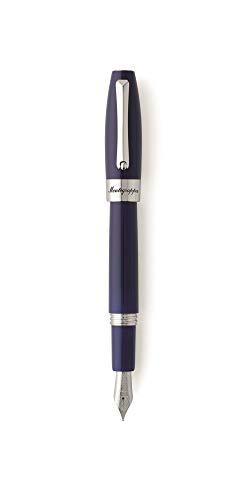 Montegrappa - Penna stilografica Blue Fortuna Fountain Pen Stub 1.5