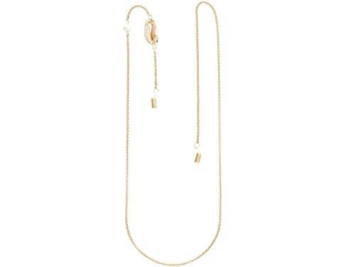 Gemshine Brillenkette: Sonnenbrille, Lesebrille. Kette mit Kaurimuschel und Zuchtperle. Silber oder Vergoldet - Fair Trade, ethisch, qualitätsvoll - Made in Spain, Metall Farbe:Silber vergoldet