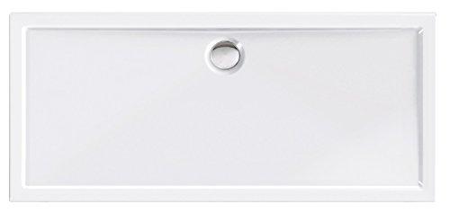 'aquaSu® Acryl-Brausewanne Teso XXL, 160 x 70 x 2,5 cm, Duschwanne, Dusche, Acrylwanne, Brause