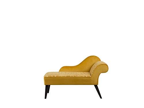 Beliani Mini Chaise Longue Derecho Amarillo Biarritz
