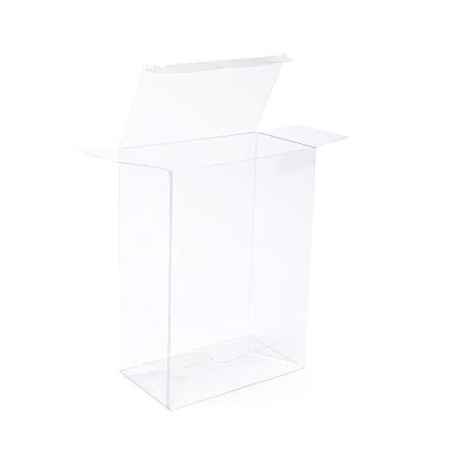"""ClearBags 5 ⅜"""" x 3"""" x 7 ⅜"""" Clear Holiday Gift Boxes   Clear PET Plastic Boxes for Christmas Weddings Parties   Favor Boxes for Ornaments Gifts Candy Cookies   Food Safe PLB67A   25 Boxes"""