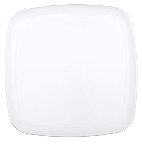 amscan 35,5 cm-Plateaux carrés Blanc
