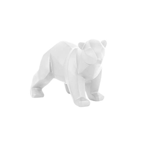 Present Time - Statue Ours Blanc Small Origami