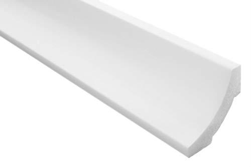 Zierleisten Sparpaket E-12 | leicht und stabil | extrudiertes Styropor | Stuckprofile | Decken-/ und Wandübergang | modern weiß | dekorativ | XPS | 50 x 50 mm | 20 Meter