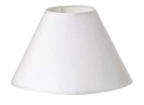 VBS Lampenschirm rund weiß blanko Ø 25 cm (unten) / 10 cm (oben) Papierschirm zum Bemalen und Bekleben