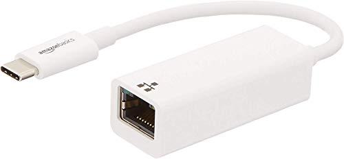 Amazon Basics - Adapter, USB 3.1 Typ C zu Ethernet - Weiß