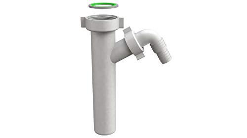 Tubo di regolazione in plastica per sifone lavabo, prolunga sifone con attacco per tubo 6/4'- Ø 40 mm, lunghezza 200 mm
