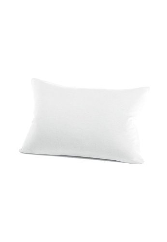 schlafgut 034-011 Mako Jersey Kissenbezug / 40 x 60 cm, Weiss