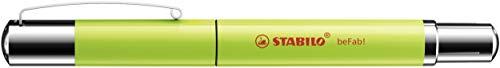 Penna Stilografica - STABILO beFab! Uni Colors in Kiwi - Cartuccia Blu inclusa