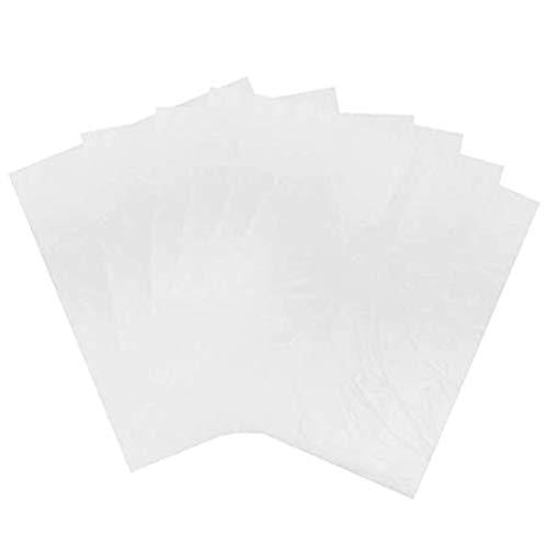 Baifeng Lot de 100 capes de coupe de cheveux jetables imperméables transparents