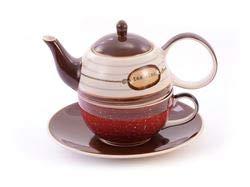Cha Cult Tea for one Set Toni Keramik, 4-teilig Kanne: 0,4 l, Tasse: 0,2 l