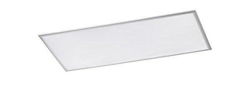 WOFI Deckenleuchte, Aluminium, Integriert, 60 W, Silber, 120 x 60 x 6 cm