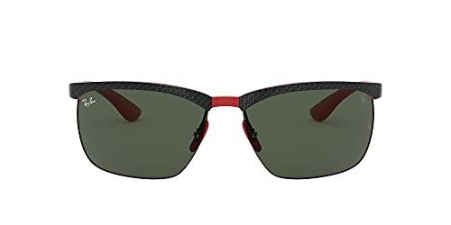 Ray-Ban 0RB8324M Gafas, Carbon/Rubber Red Ferrari, 64 para Hombre